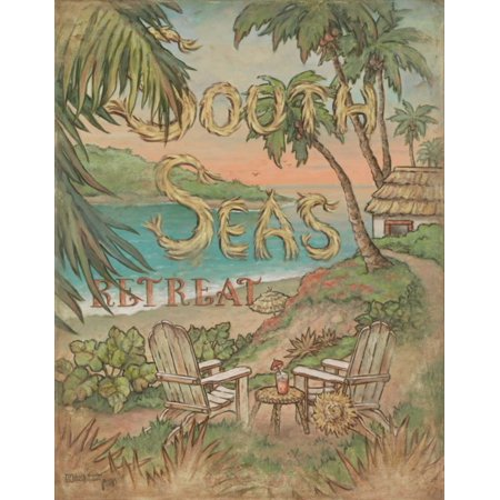 South Seas Retreat Poster Print by Janet Kruskamp