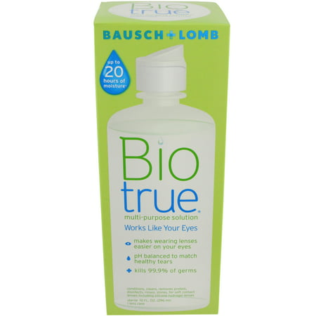 Solution Tank (Bausch & Lomb Biotrue For Soft Contact Lenses Multi-Purpose Solution, 10 oz)