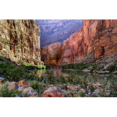 USA, Arizona, Grand Canyon, Colorado River Float Trip Whitmore Creek Print Wall Art By John