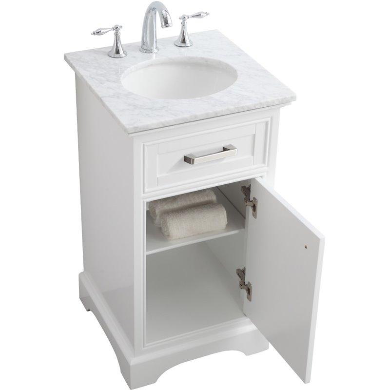 Elegant Decor Americana 19 Single Marble Top Bathroom Vanity In White Walmart Com Walmart Com