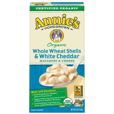 Annies  Organic Whole Wheat Shells   White Cheddar Mac   Cheese