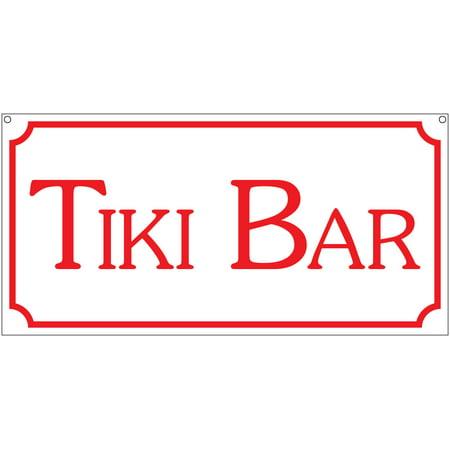 Tiki Bar- 6x12 Aluminum Club Beach Man Cave Bar Tropical sign