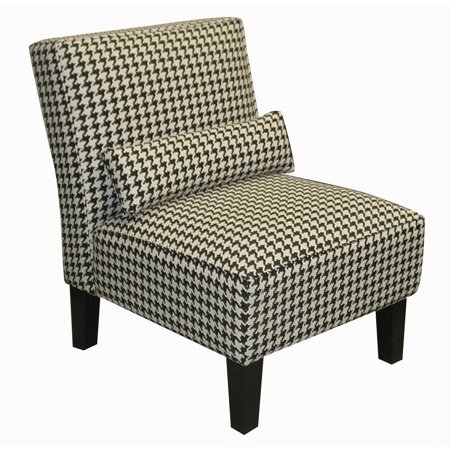 Berne Armless Chair In Black Houndstooth Walmart Com