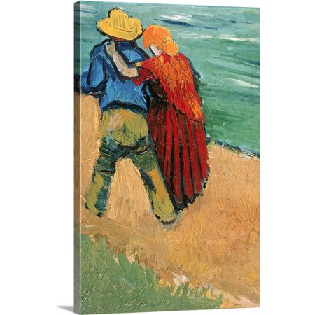 Great BIG Canvas Vincent (1853-1890) van Gogh Premium Thick-Wrap Canvas entitled A Pair of Lovers, Arles, (Vincent Van Gogh Bedroom In Arles 1888)