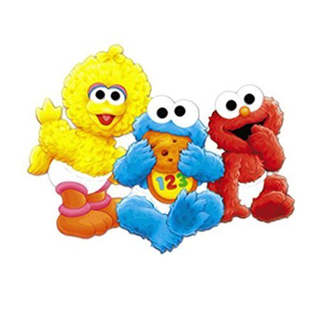 Baby Sesame Street Big Bird Cookie Monster Elmo Edible Cake Topper Frosting 1/4 Sheet (Elmo Finds A Baby Bird)