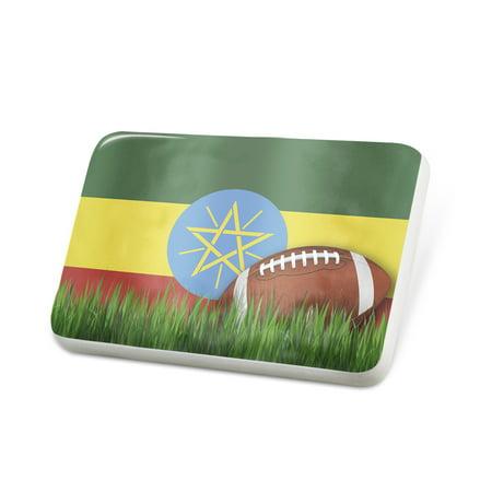 Porcelein Pin Football with Flag Ethiopia Lapel Badge – NEONBLOND (Ethiopia Football)