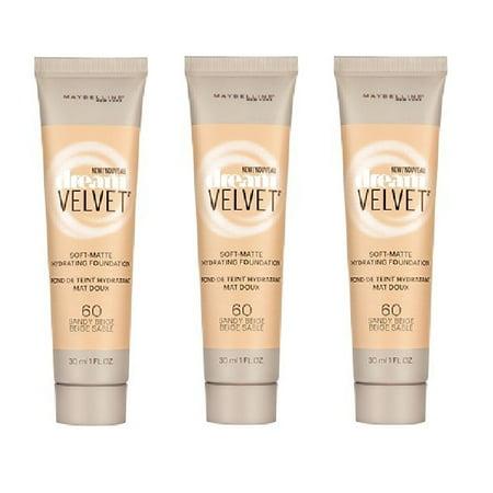 60 Matte - Maybelline Dream Velvet Soft Matte Hydrating Foundation, #60 Sandy Beige (Pack of 3) + Cat Line Makeup Tutorial