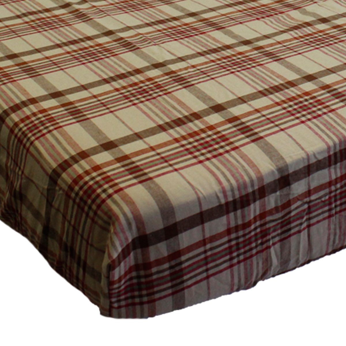 Crown Crafts Infant Products 16992065 Little Mvp Fitted Crib Sheet Plaid Toddler Bedding