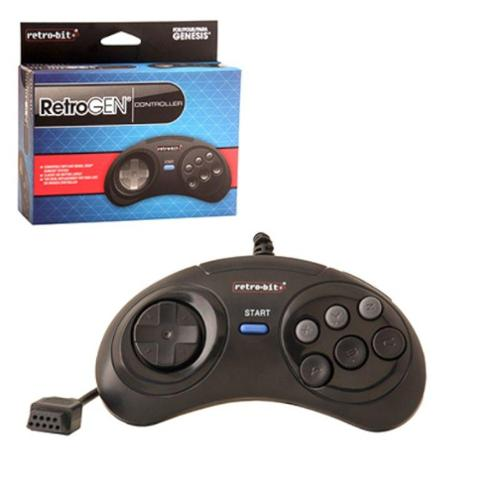 2-Pack 6 Feet Wired 6 Button Controller For Sega Genesis System