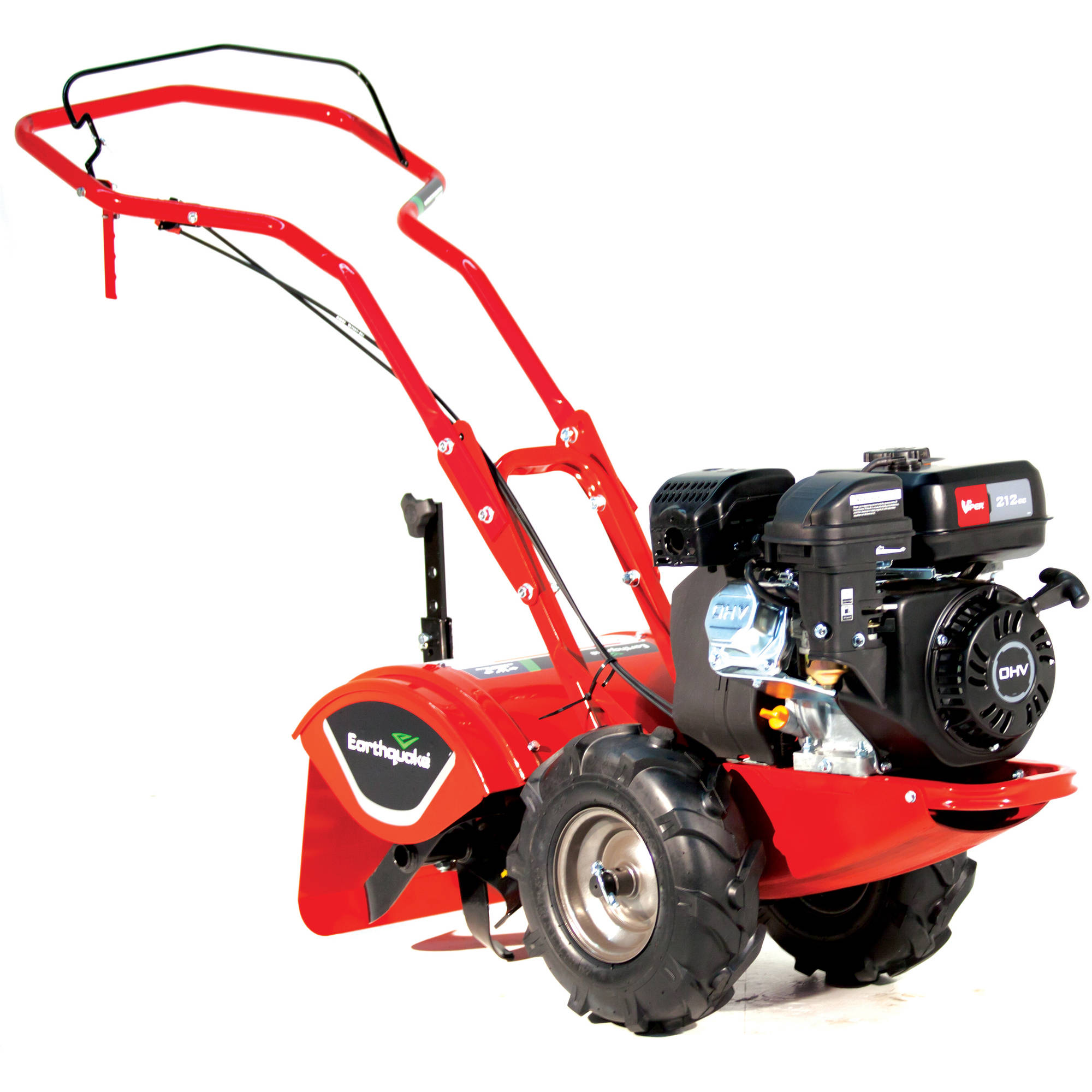 Earthquake Victory Compact Rear Tine Tiller with Reverse and 4-Cycle 212cc Viper Engine