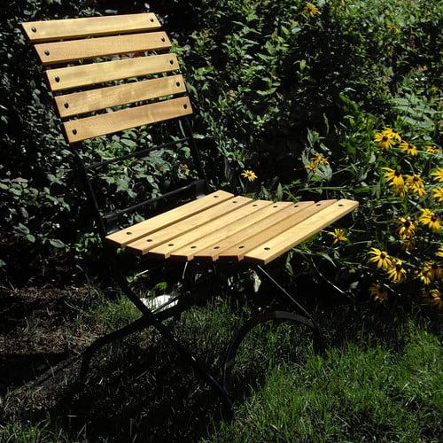 Furniture Designhouse European Grande Caf Folding Teak Patio Dining Chair (Set of 2) by Furniture Designhouse