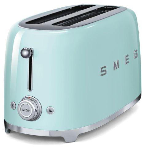 smeg 4-slice toaster pastel green