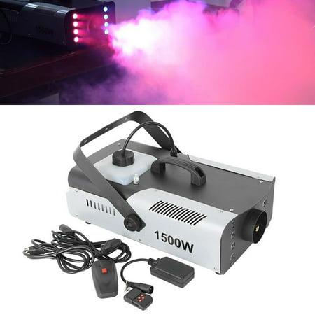Party Light Machine (TCMT 1500W 8 LED Fog Machine RGB 3IN1 Fogger Smoke Maker with Wireless Remote)