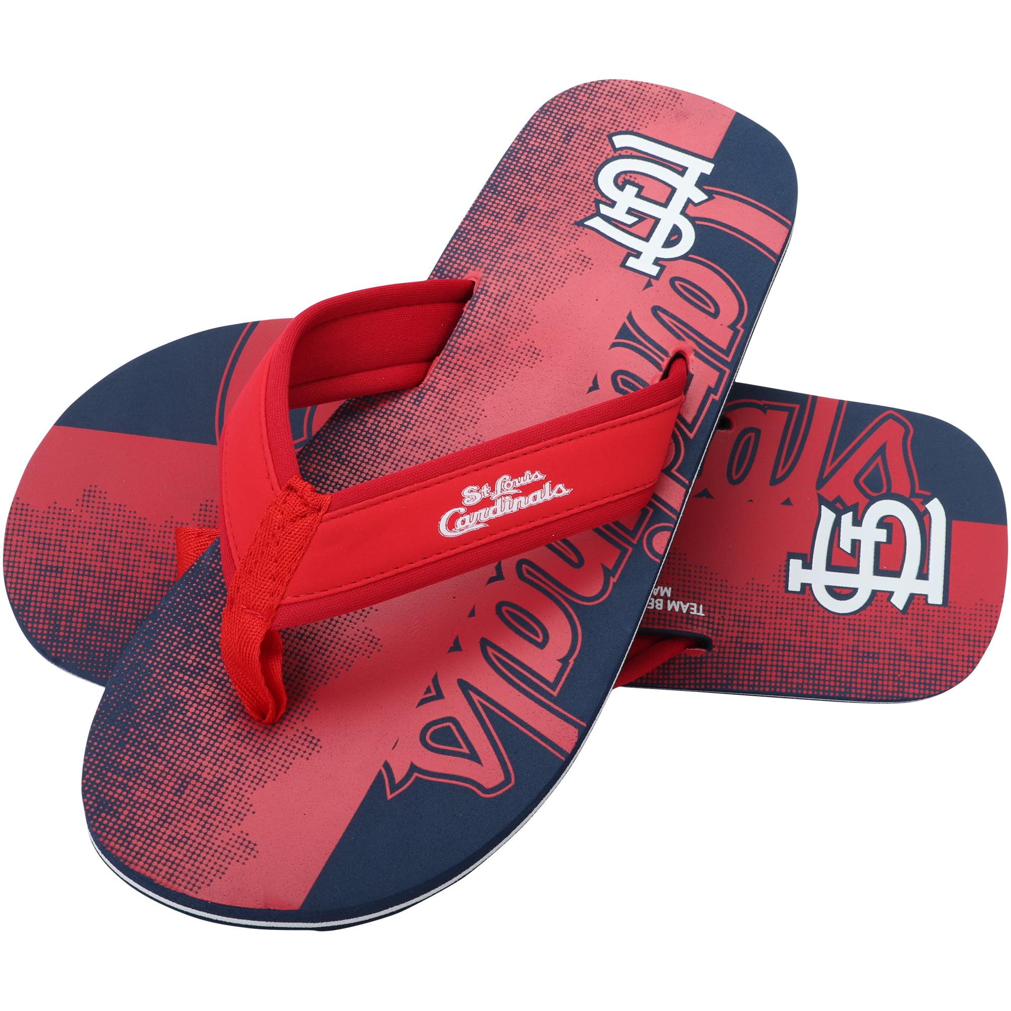 St. Louis Cardinals Contour Fade Wordmark Flip Flops