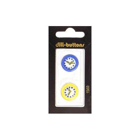 Dill Buttons 20mm 2pc 2 Hole Orange (Art Glass Daisy Button)