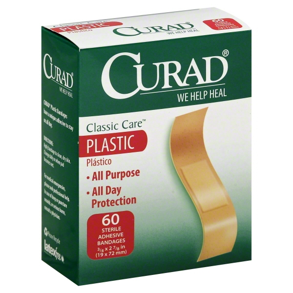 Medline Industries Curad Classic Care Bandages, 60 ea