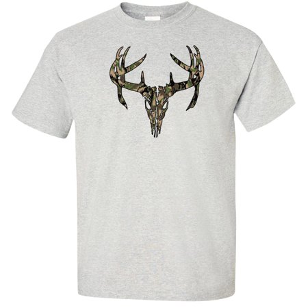 Camouflage Deer Skull T-Shirt hunting buck elk About Hunting T-shirt