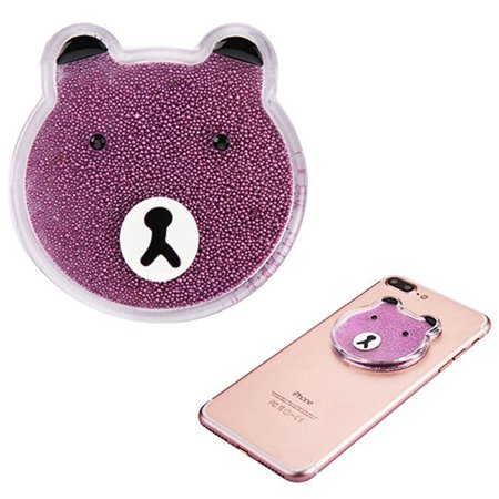 Insten Liquid Quicksand Floating Glitter Adhesive 3M Decal Sticker for Cellphone any Flat Surface - Bear/Pink - image 1 of 3