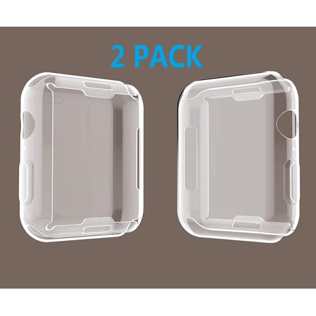2019 New 44MM Case for Apple Watch, High Definition Clear Case with Buit in TPU Screen Protector, Overall Protective for Apple Watch Series 4 (40mm) 2 pack,
