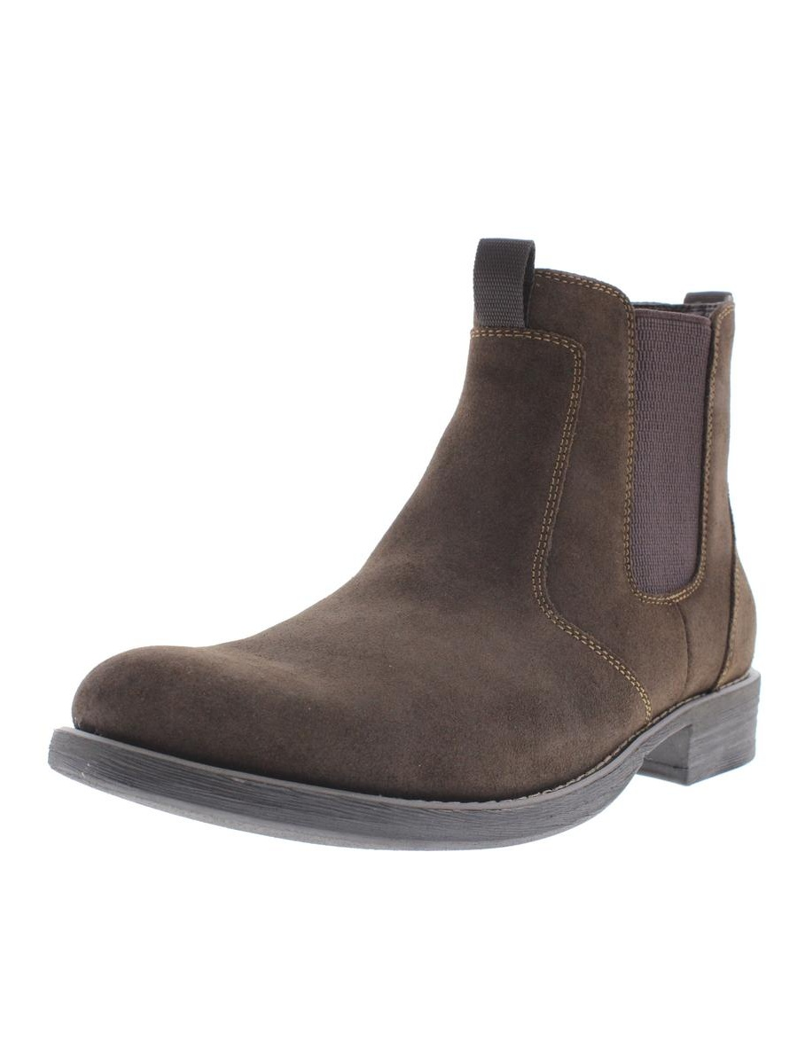 Eastland Mens Suede Pull On Chelsea Boots