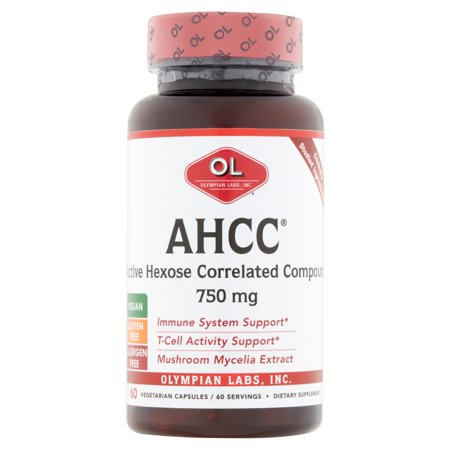 Olympian Labs AHCC Active Hexose Correlated Compound Vegetarian Capsules,  750 mg, 60 count