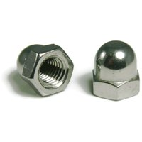 """Cap Nuts Nickel Plated Steel - 5/16""""-18 UNC - QTY 100"""