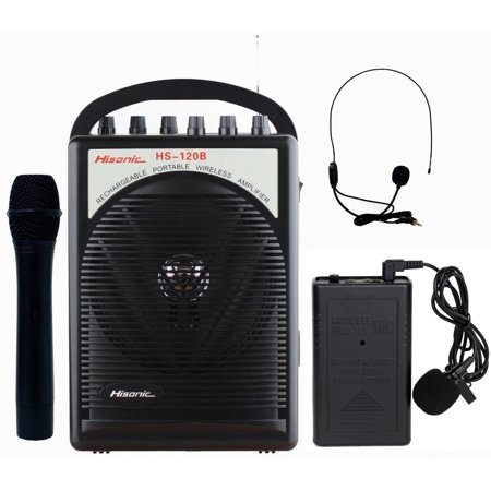 Hisonic HS120B Lithium Battery Rechargeable & Portable PA (Public Address) System with Built-in VHF Wireless