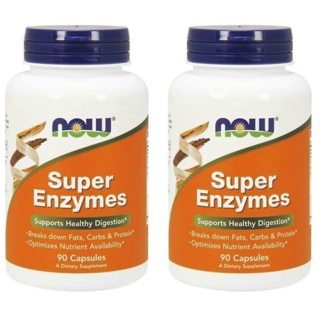 Now Foods - Super Enzymes, 90 Capsules - 2 Packs Super Enzyme 50 Capsules