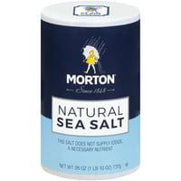 (2 pack) Morton Natural Sea Salt, 26 Oz