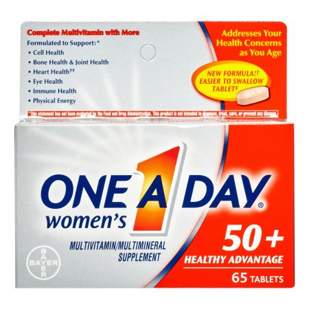 One a Day Women's 50+ Healthy Advantage Multivitamin Tablets, 65 Ct