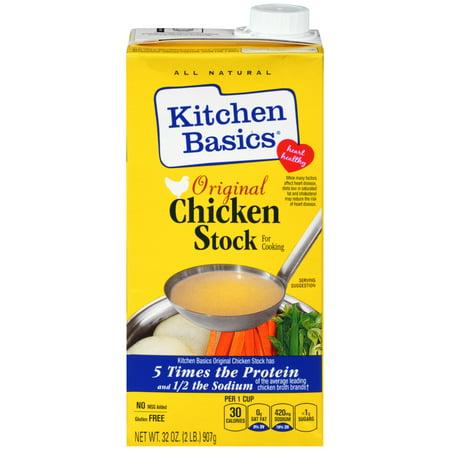 Chicken Stock - Kitchen Basics All Natural Original Chicken Stock, 32 fl oz
