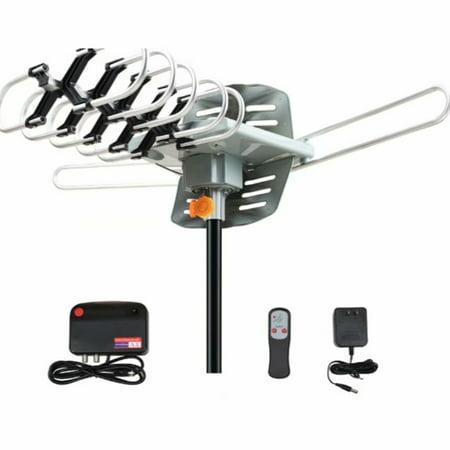 Wireless Dipole Antenna (Leadzm 28-36dB  Outdoor TV Antenna Digital Antenna 150 Mile Motorized 360 Degree Rotation w/ Wireless Remote Control)
