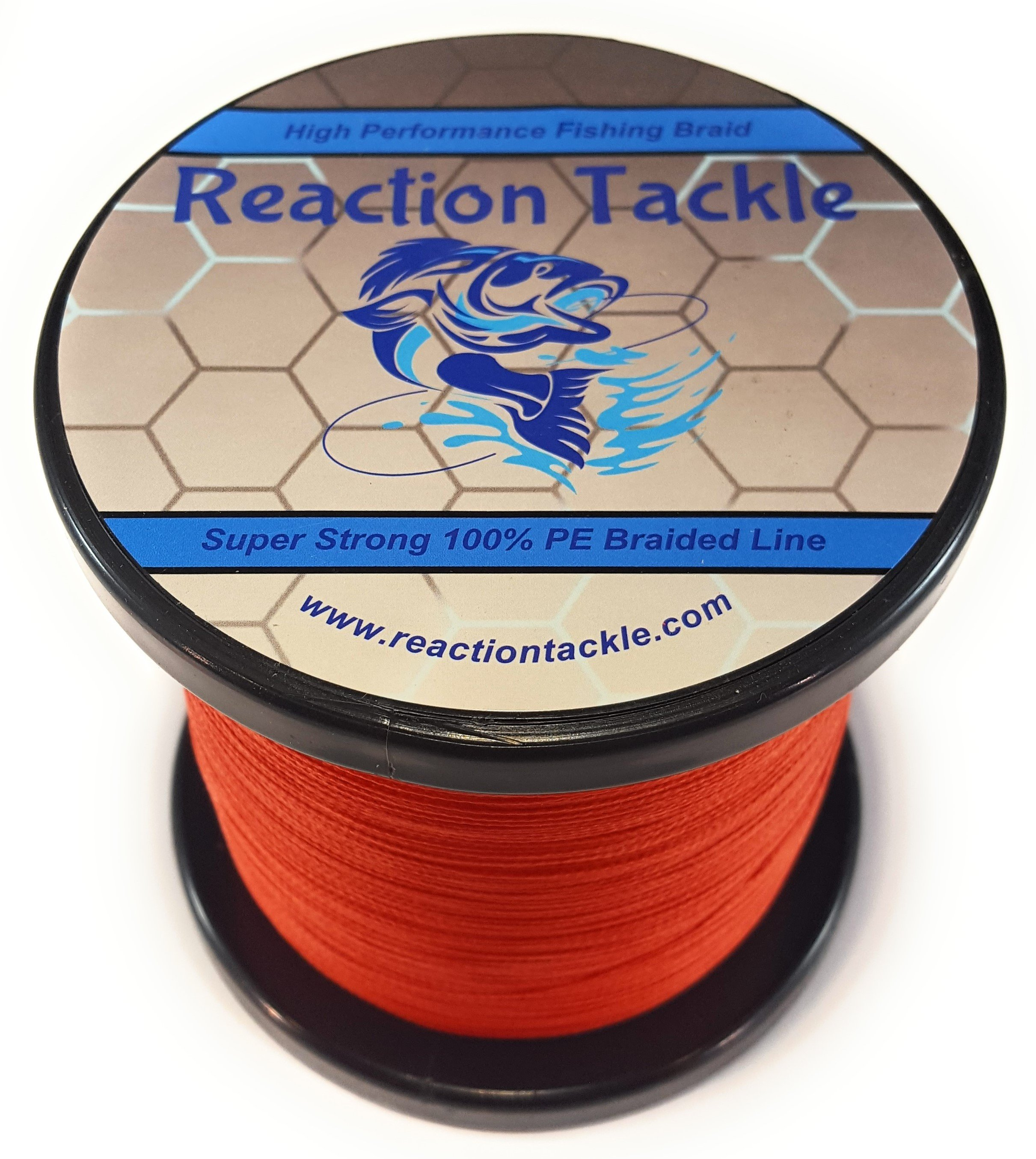 Reaction Tackle High Performance Braided Fishing Line- Dark Red ...