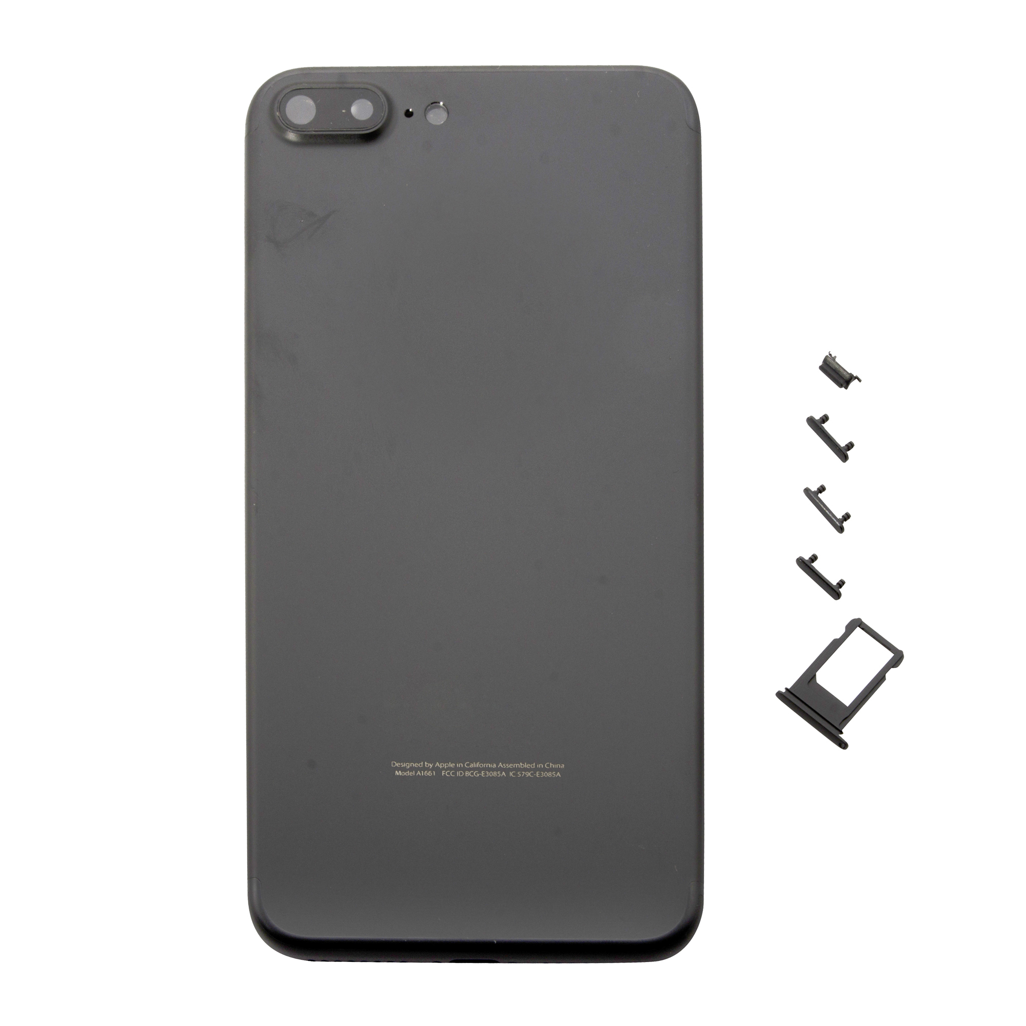 separation shoes 8ad01 dd6cf Metal Battery Back Rear Cover Housing Replacement Part Compatible With  iPhone 7 Plus - Black