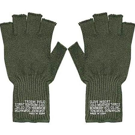 G.I. Olive Drab Wool Fingerless Glove - One Size Fits Most Olive Drab Wool Glove