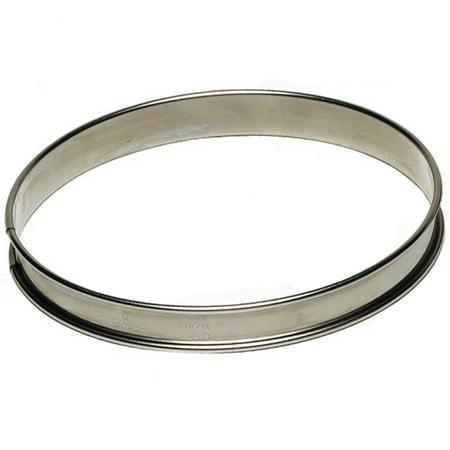 """Gobel Round Tart Ring 3/4"""" High, Stainless Steel 200mm (8"""")"""