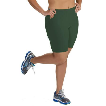 Women's Plus Size Cotton Bike Shorts ()