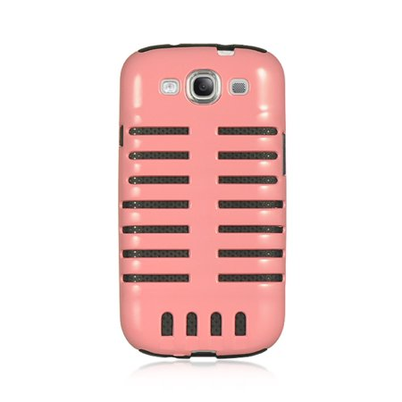 Insten Skeleton Hybrid Hard PC/Silicone Dual Layer Case Cover For Samsung Galaxy S3 - Pink/Black](Samsung S3 Case)