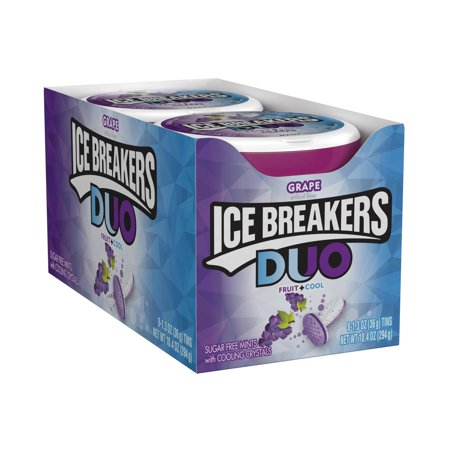 Ice Breakers, Duo Sugar Free Mints, Grape Flavor, 1.3 Oz (Pack of (Free Mint)