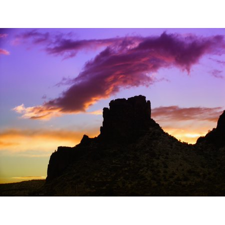 Sunset Sedona Arizona (Laminated Poster Mountains Clouds Sunset Arizona Sky Sedona Poster Print 11 x 17)