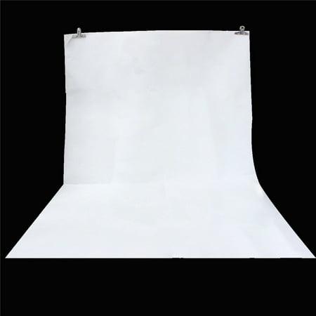 150cm x 210cm White Wall Vinyl Cloth Photography Backdrop Photo Background Studio Props - image 1 de 4