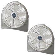Lasko 20 Inch Cyclone Floor or Wall Mounted Pivoting Fan, White (2 Pack)