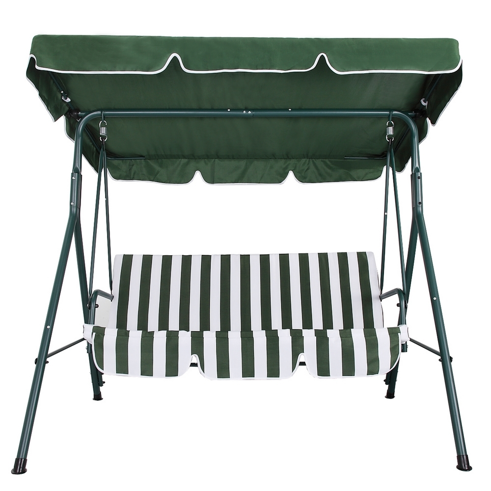 Palm Springs Garden 3 Seater Hammock Cushioned Swing Chair Outdoor Bench  Seat   Walmart.com
