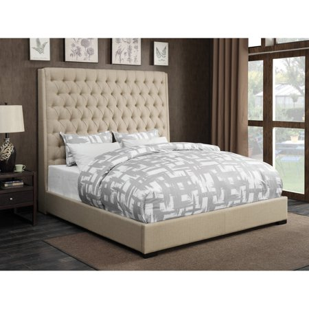 Coaster Furniture Camille Upholstered Tufted Panel Bed ()