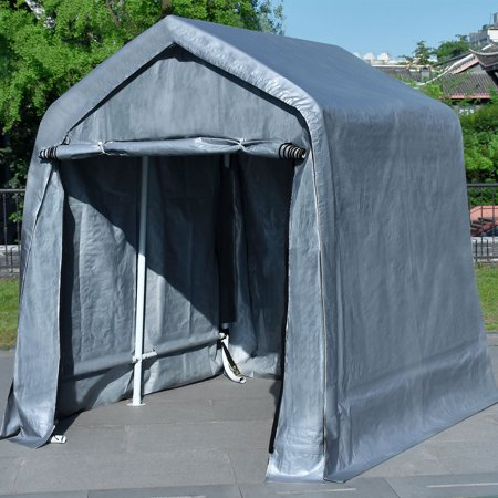 Quictent Garage Shed 10'X10' Storage Carport with Auger Anchors and Ratchets for Keeping Lawn Equipment and Motorcycles