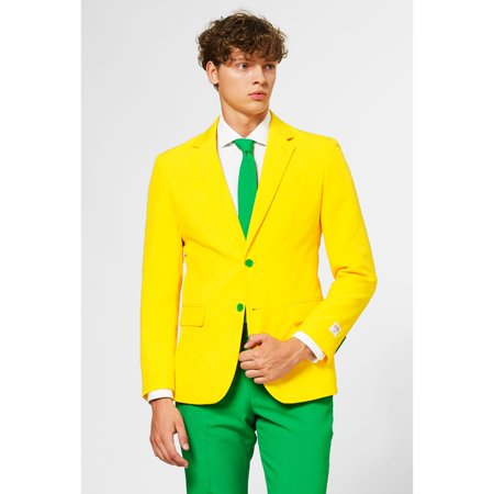 Cheapest Costumes Australia (Green and Yellow Nativity Themed Men Adult Australian Suit -)