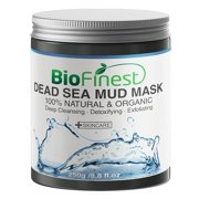 Biofinest Dead Sea Mud Mask - with Shea Butter, Aloe Vera, Collagen - Best Facial Pore Minimizer, Wrinkles Reducer, Pores Cleanser (250g)