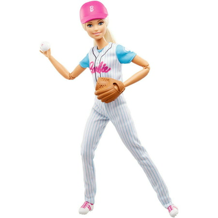Barbie Made To Move Baseball Player Doll with Baseball & Mitt