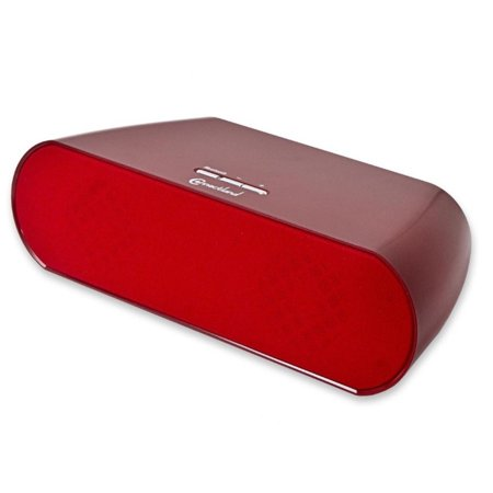Connectland Bluetooth V2.1 +EDR Wireless Stereo Portable Speaker 2 x 3w (Powered by Batteries or AC Adapter) , Red