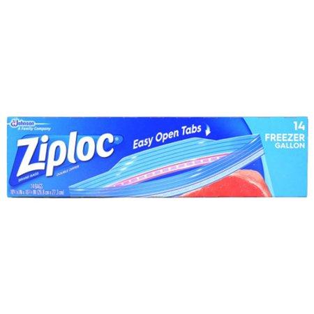 Ziploc Double Zipper Freezer Bags  Gallon  14 Ct